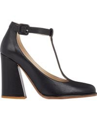 See By Chloé Black T-Strap Pumps - Lyst