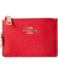 Coach Box Program Embossed Txtrd Leather Mini Skinny - Lyst