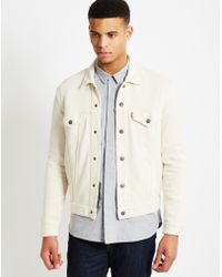 Levi's | French Terry Trucker Jacket White | Lyst