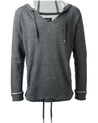 Diesel Flecked Hooded Sweatshirt - Lyst