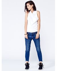 Free People Destroyed Ankle Skinny - Lyst