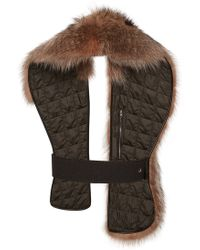 Marni Quilted Raccoon Fur Stole - Lyst