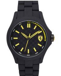 Scuderia Ferrari - 'pit Crew' Silicone Bracelet Watch - Lyst