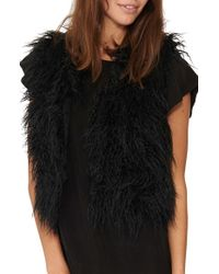 n:PHILANTHROPY - 'chantal' Crop Faux Fur Vest - Lyst