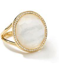 Ippolita - Small Diamond-bezel Mother-of-pearl Lollipop Ring - Lyst