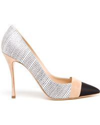 Nicholas Kirkwood Striped Leather Pumps - Lyst