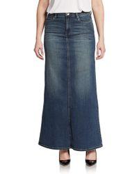 Kensie Denim A-line Maxi Skirt - Lyst