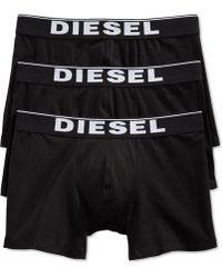 Diesel Men'S Sebastian Bold Logo Waist Boxer Shorts 3-Pack - Lyst