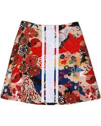 Carven Wrinkled Short Skirt multicolor - Lyst