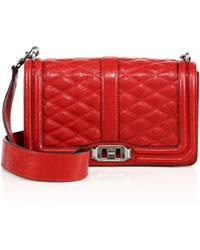 Rebecca Minkoff   La Love Quilted Leather Crossbody Bag   Lyst