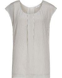 Reiss Leigh Stripe Sleeveless Silk Top - Lyst