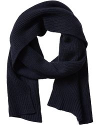 Banana Republic Ribbed Cashmere Scarf - Navy - Lyst