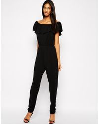 Tfnc Jumpsuit with Ruffle Trim - Lyst