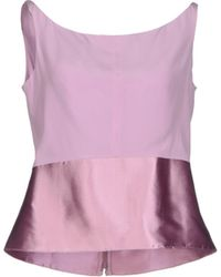 Balenciaga Pink Top - Lyst