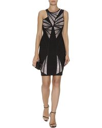Hervé Léger Halle Sequin Bandage Dress - Lyst