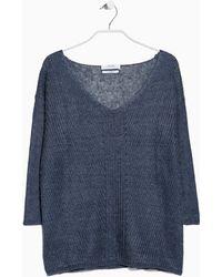 Mango Fine-Knit Linen Sweater - Lyst