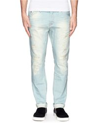 Scotch & Soda Phaidon Distressed Jeans - Lyst