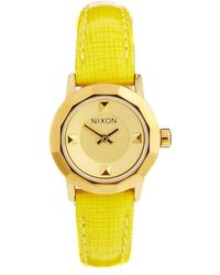 Nixon The Mini B Yellow Watch - Lyst