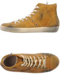 Leather Crown Hightops Trainers - Lyst