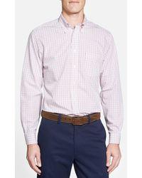 Brooks Brothers Regent Fit Tattersall Sport Shirt pink - Lyst