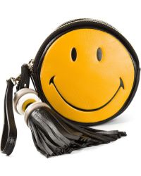 Anya Hindmarch Smiley Hadlow Clutch - Lyst