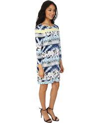 BCBGMAXAZRIA Calico Printed Shift Dress - Lyst