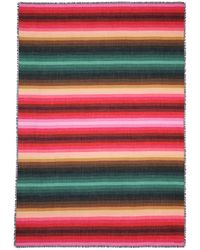 Valentino Stripe Print Cashmere-Silk Scarf multicolor - Lyst
