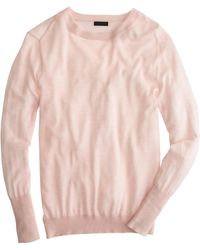 J.Crew Collection Featherweight Cashmere Rib-Trim Sweater - Lyst