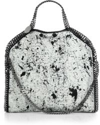 Stella McCartney Falabella Splash-Print Linen Fold-Over Tote - Lyst