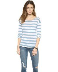 Splendid Bridgewater Stripe Pullover - White - Lyst