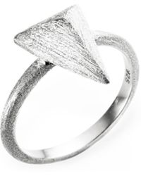 Ona Chan Jewelry - Triangle Ring Silver - Lyst
