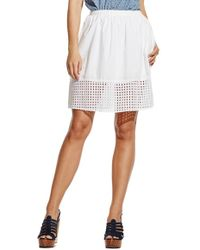 Two By Vince Camuto | Eyelet Border Cotton Skirt | Lyst