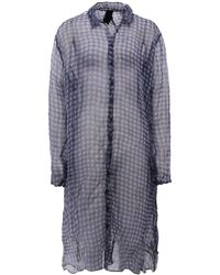 Rundholz Sheer Check Shirt Dress - Lyst
