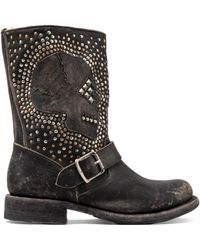 Frye Jenna Skull Stud Short Boot - Lyst