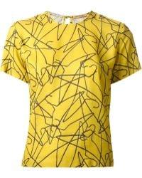 Peter Jensen Scattered Hangers Tshirt - Lyst