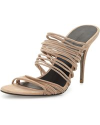 Alexander Wang Mathilde Stretch Suede Strappy Sandal - Lyst