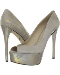 B Brian Atwood Brian Atwood Bambola Grey Patent Pumps - Lyst