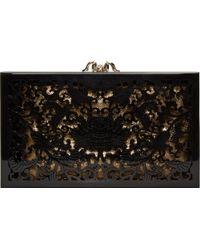 Charlotte Olympia Black Ornate Perspex Pandora Box Clutch - Lyst
