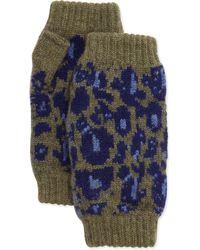 Rosie Sugden - Cashmere Leopard-print Fingerless Gloves - Lyst