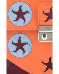 Holly Fulton - X Petek 1855 Orange & Maroon Large Pin Trunk Bag - Lyst