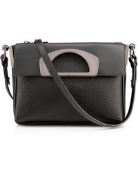 Christian Louboutin Passage Pebbled Messenger Bag Black - Lyst
