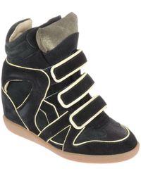 Etoile Isabel Marant Wila-Sneakers-Nera-Con-Profili-A-Contrasto - Lyst
