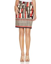 NIC+ZOE - Nic+zoe Starboard Abstract Print Pencil Skirt - Lyst
