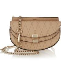 Chloé - Chloé Georgia Convertible Embossed Leather Belt Bag - Lyst