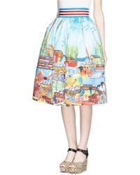 Stella Jean 'Lumaca' Market Print Pouf Skirt - Lyst