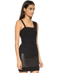 Vera Wang Collection - Bustier Top With Back Lace Up Detail - Black - Lyst