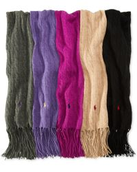 Ralph Lauren Polo Classic Cable Scarf - Lyst