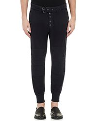 Greg Lauren - French Terry Belted Moto Lounge Pants - Lyst