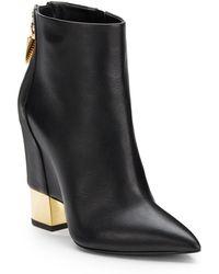 Giuseppe Zanotti Leather Wedge-Heel Boots - Lyst