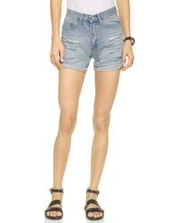 Cheap Monday Thrift Shorts - Rip blue - Lyst